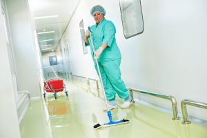 cleaning hospital floors